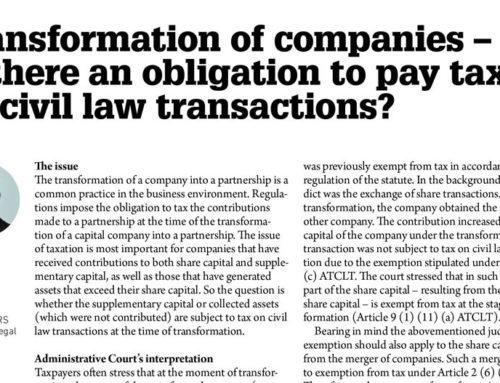 WBJ – Tomasz Wojdal on transformation of the companies