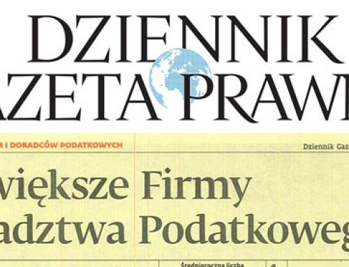 1st place in the Łódź region – the Largest Tax Advisory Companies Ranking